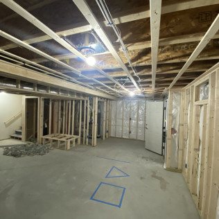 Hopkinton Basement Remodel- In Progress